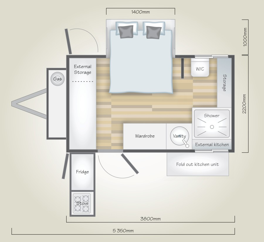 Liberty LC2 Off Road Caravan Floor Plan