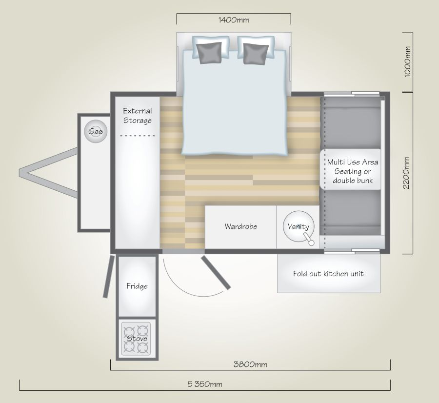 LC4 Off Road Caravan Floor Plan